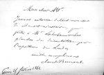 Lettre autographe de Claude Bernard, février 1862 [reproduction] - Nos médecins contemporains, par P [...]