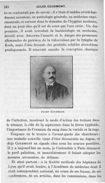 Jules Courmont - Annales d'hygiène publique et de médecine légale - Médecins. 19e siècle, 20e siècle (France. Lyon) - med90141x1917x27x0184