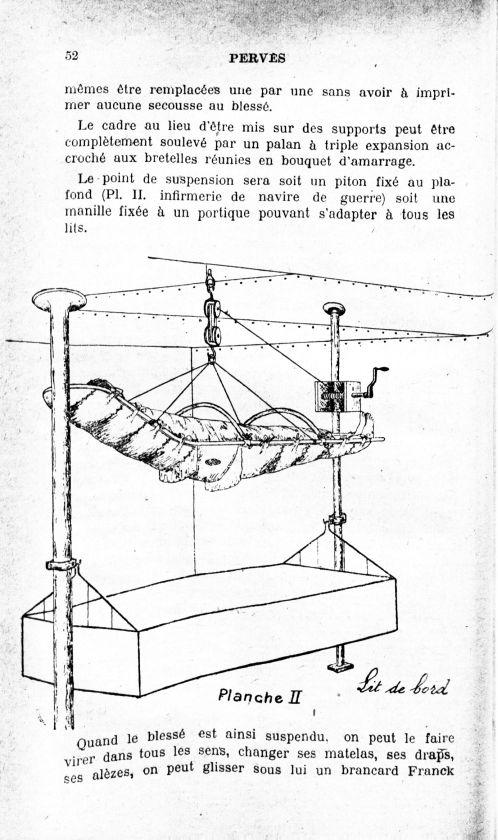 Planche II. Lit du bord - Archives de médecine et pharmacie navales -  - med90156x1922x112x0052