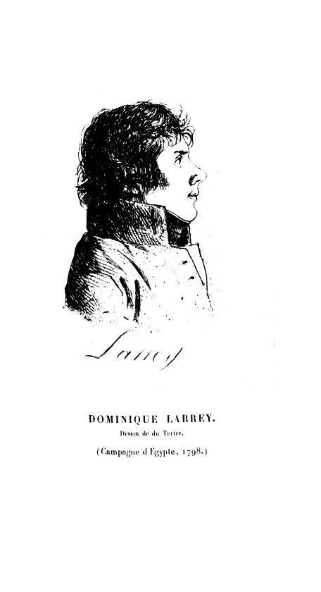 Dominique Larrey. Dessin de du Tertre (Campagne d'Égypte, 1789) - Archives de médecine et pharmacie  [...] -  - med90156x1938x128x0007