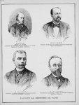 Faculté de médecine de Paris. M. le Pr Potain / M. le Pr P. Berger / M. le Pr F. Raymond / M. le Dr  [...]