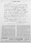 Autographe de Trousseau (d'après P. Labarthe: nos médecins contemporains) - Le progrès médical