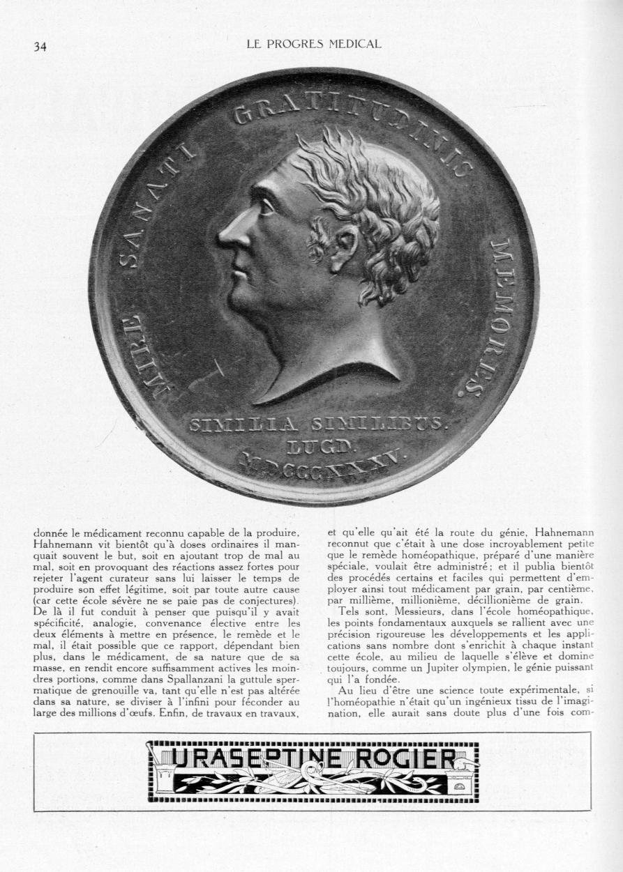 Médaille de des Guidi - Le progrès médical -  - med90170x1931xsupx0034