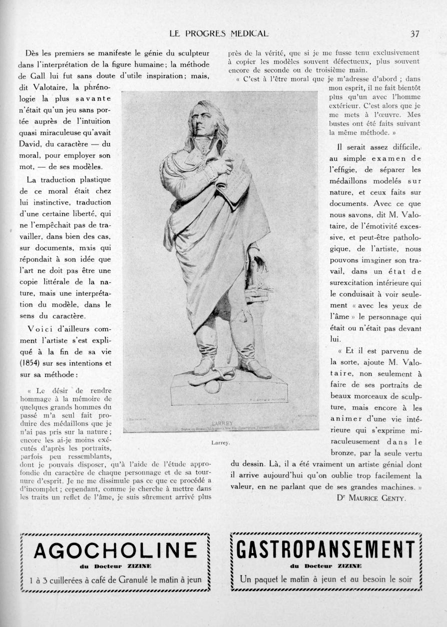 Larrey - Le progrès médical -  - med90170x1932xsupx0037