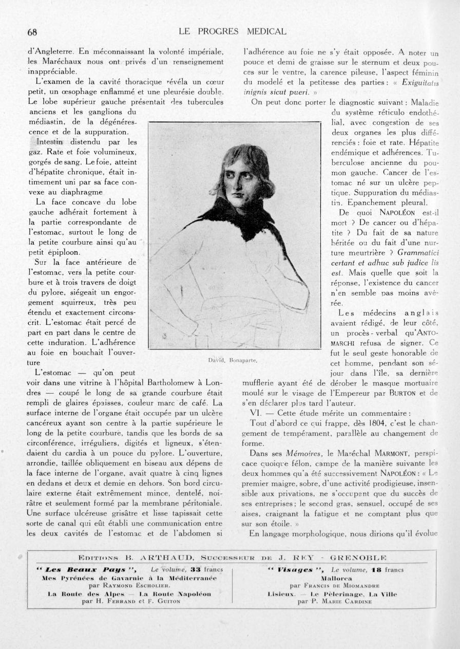 David. Bonaparte - Le progrès médical -  - med90170x1933xsupx0068