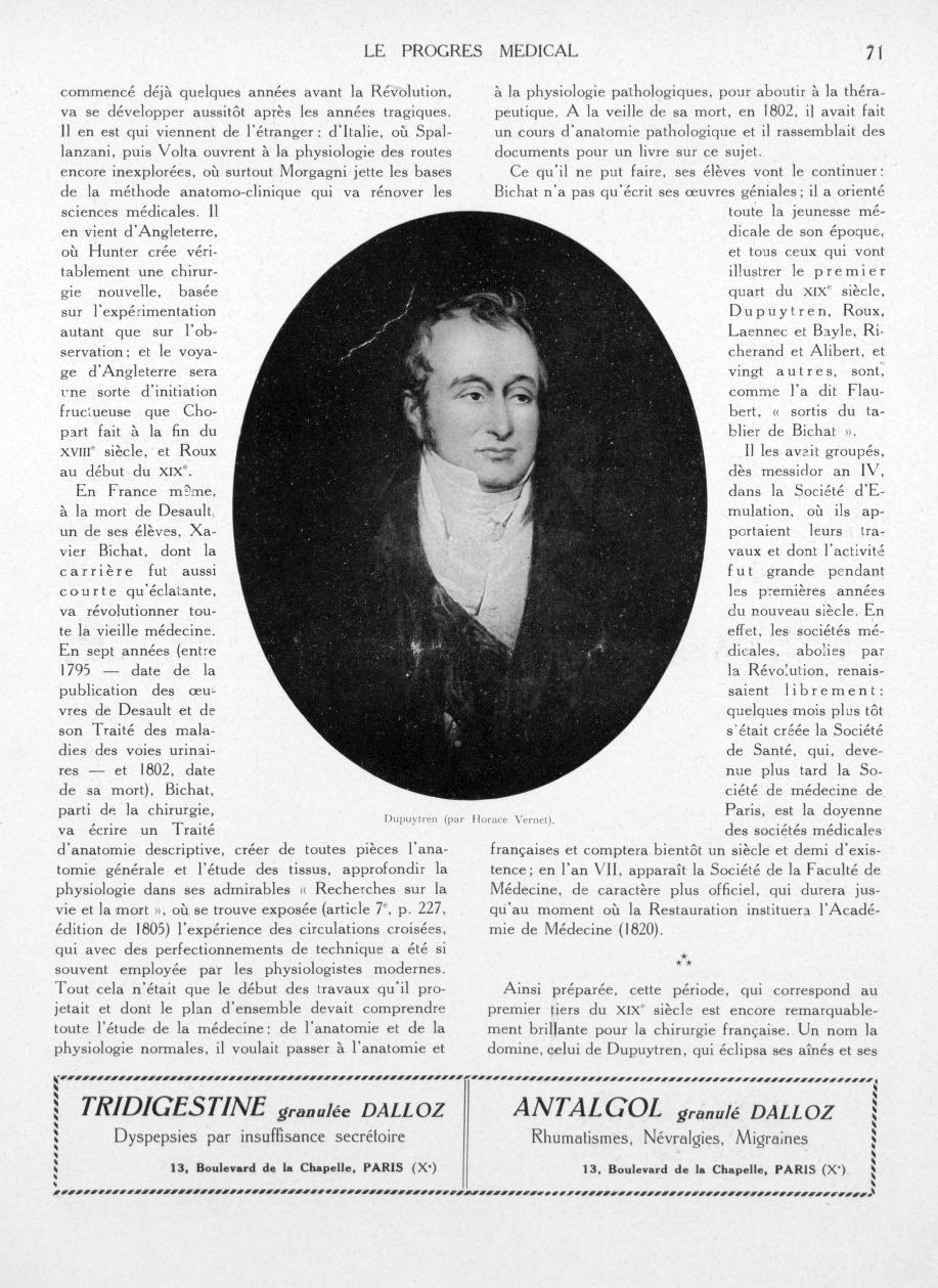 Dupuytren (par Horace Vernet) - Le progrès médical -  - med90170x1934xsupx0071