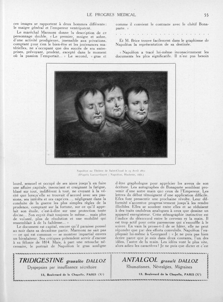 Napoléon au théâtre de Saint-Cloud le 23 avril 1812 (D'après Lacour-Gayet: Napoléon, Hachette, édit. [...] -  - med90170x1936xsupx0055