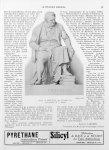 Statue de Broussais, par Théophile Bra. Lithographie de A. Chazal - Le progrès médical
