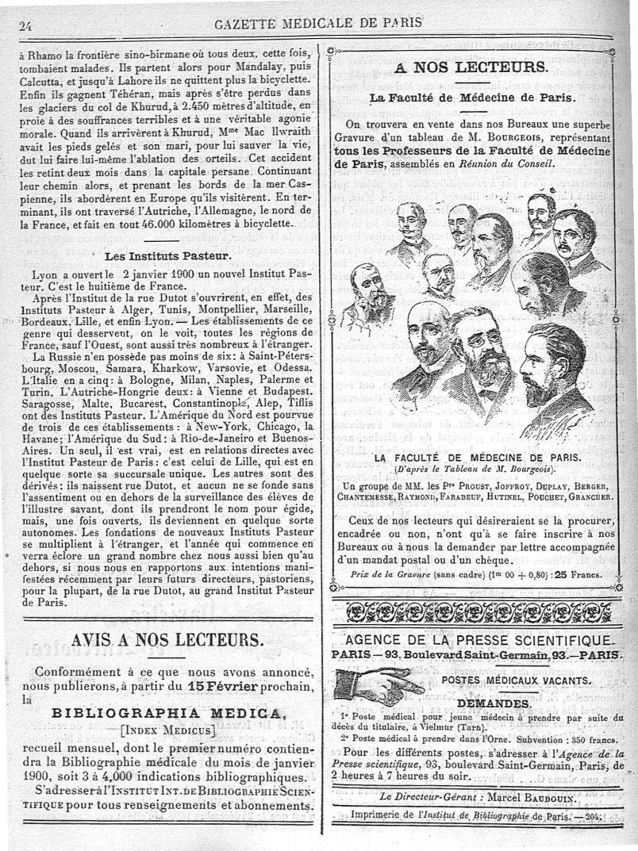 Un groupe de MM. les Prs Proust, Joffroy, Duplay, Berger, Chantemesse, Raymond, Farabeuf, Hutinel, Pouchet, Grancher - Médecins. France. 19e siècle. 20e siècle - med90182x1900x03x0028