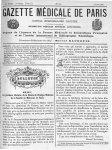 Pr Debove - Gazette médicale de Paris : journal de médecine et des sciences accessoires