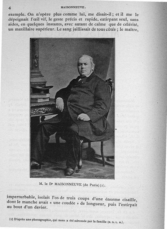 M. Le Dr Maisonneuve (de Paris) - Maisonneuve -  - med90960x618x06x0006
