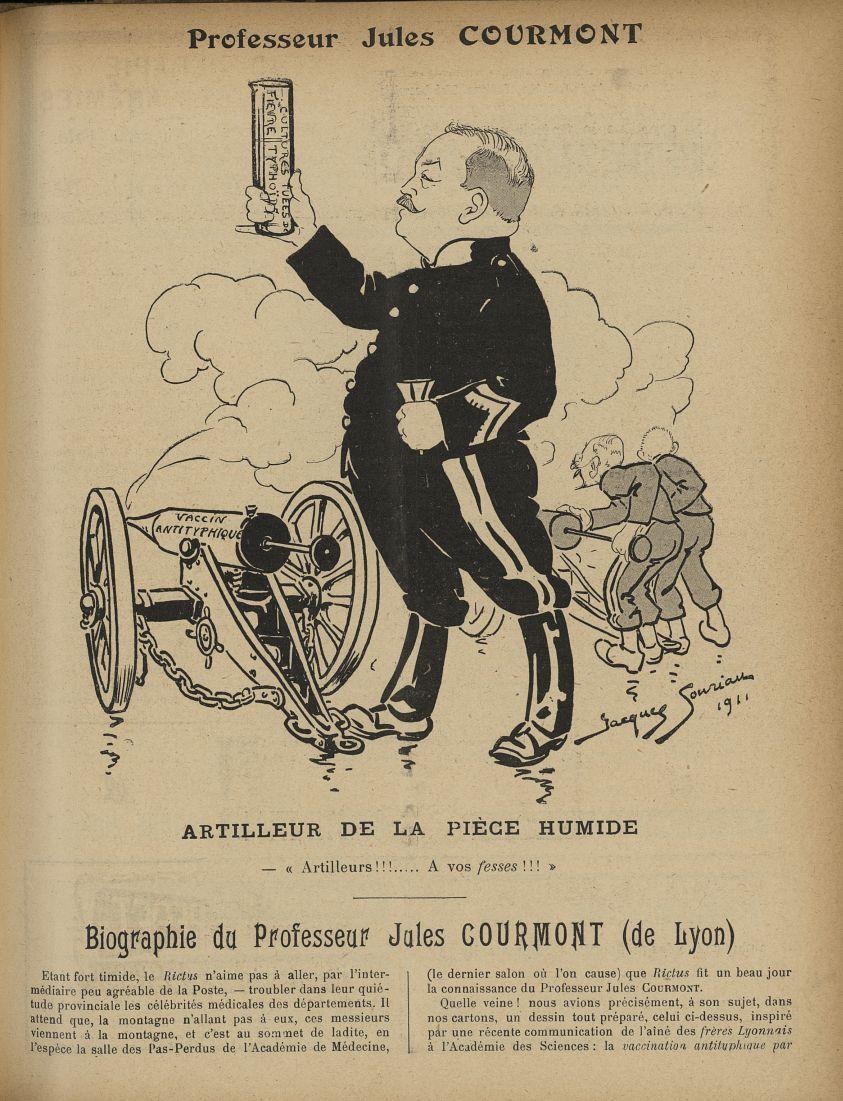 [Caricature du Professeur Jules Courmont] - Le Rictus :  journal humoristique mensuel. 1912 -  - med91337x1912x0009