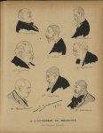 [Caricatures] Pr Chantemesse, Pr Gaucher, Pr Blanchard, Pr Achard, Pr Déjerine, Dr Meillère, Dr Rich [...]
