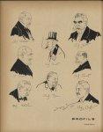 [Caricatures] Pr Debove, Dr Troisier, Pr Hutinel, Pr Poncet, Pr Bar, Pr Segond, Pr Pinard, Pr Chauff [...]