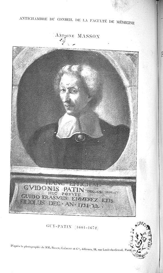 Guy Patin - Le monde médical parisien sous le Grand Roi, suivi du portefeuille de Vallant -  - medTPAR1899x30x025x0004