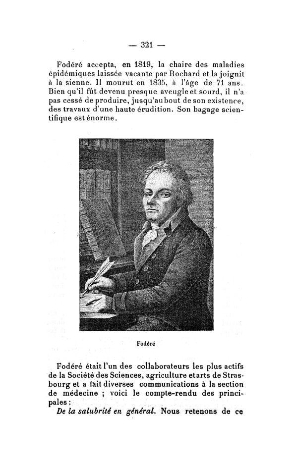 Fodéré - Bulletin de la Société française d'histoire de la médecine -  - medbsfhmx1914x13x0323