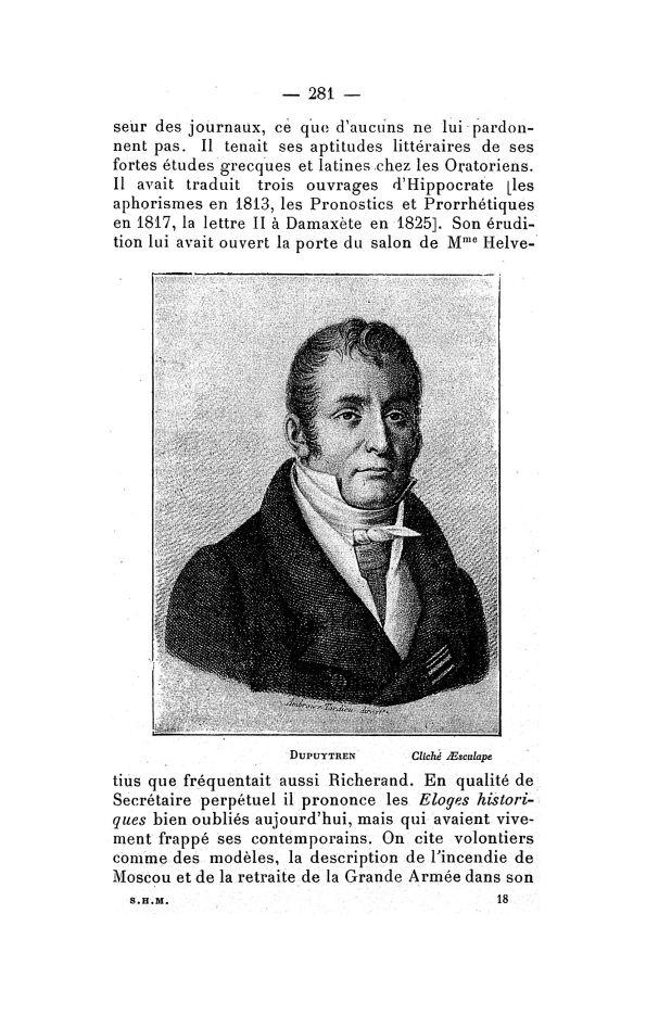 Dupuytren - Bulletin de la Société française d'histoire de la médecine -  - medbsfhmx1928x22x0281
