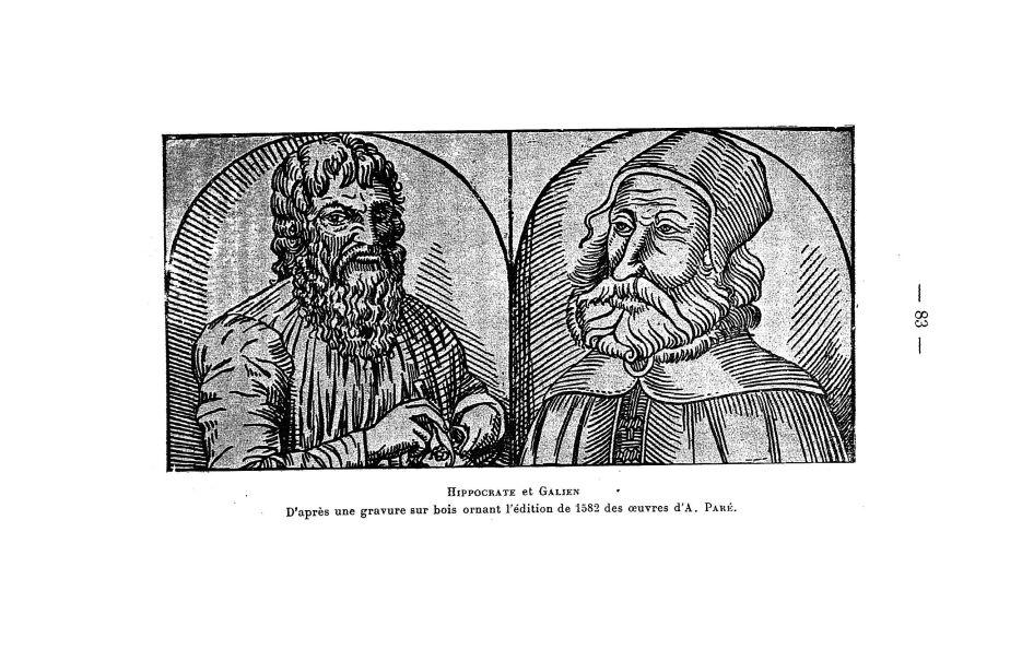 Hippocrate et Galien - Bulletin de la Société française d'histoire de la médecine - Médecins. Antiquité, 16e siècle, 20e siècle (Grèce, Rome) - medbsfhmx1934x28x0085