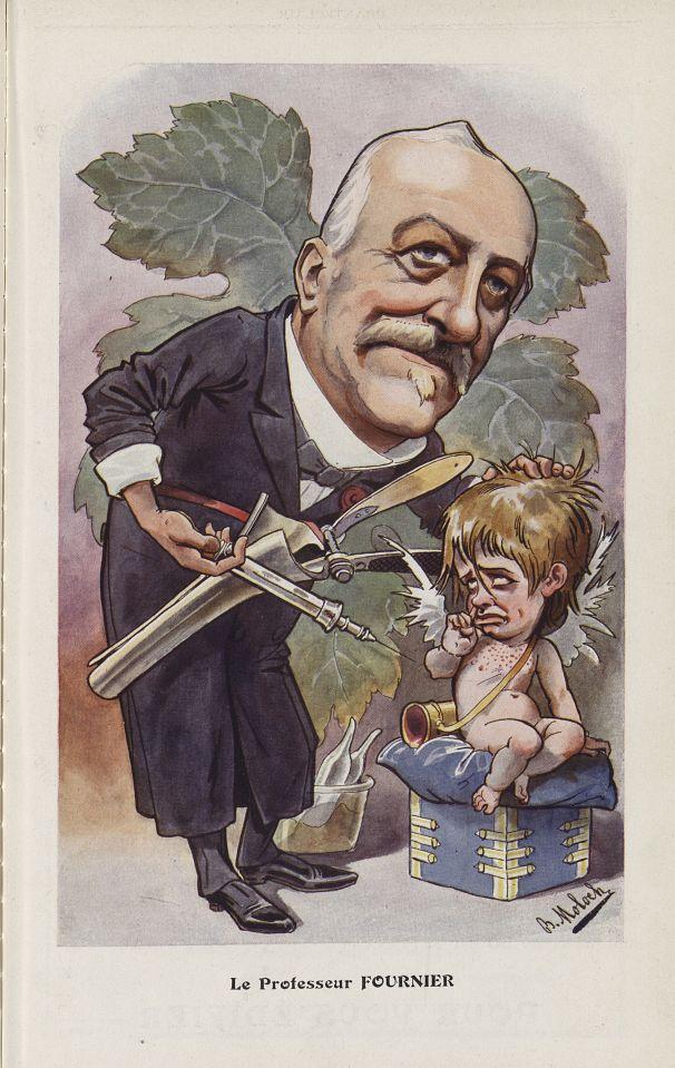 [Caricature] Le Professeur Fournier (B. Moloch) - Chanteclair -  - medchanteclx1906x01x0012