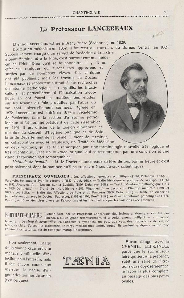 Le Professeur Lancereaux - Chanteclair -  - medchanteclx1908x03x0007