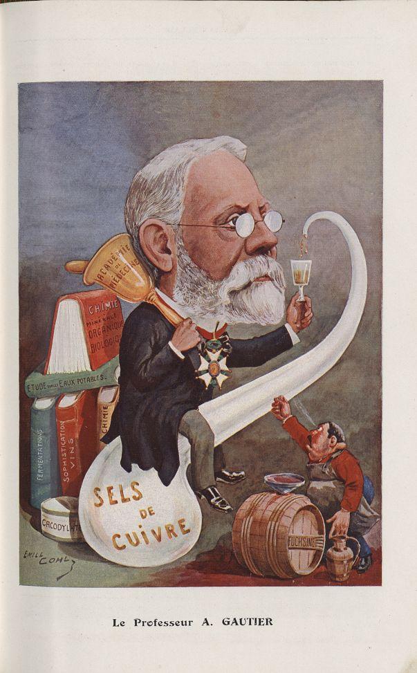 [Caricature] Le Professeur A. Gautier (Emile Cohl) - Chanteclair -  - medchanteclx1909x04x0039