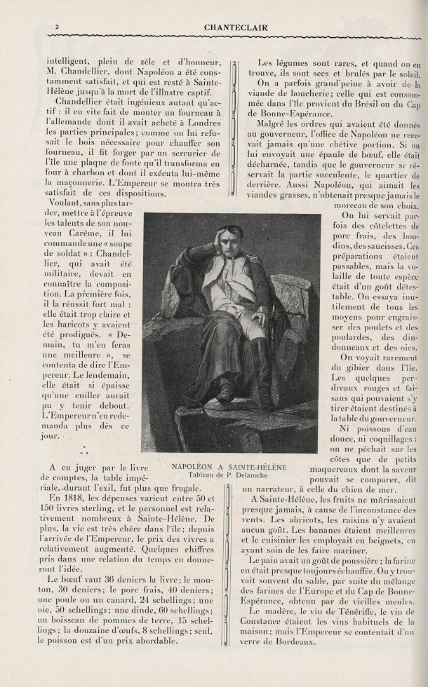 Napoléon à Sainte-Hélène (P. Delaroche) - Chanteclair -  - medchanteclx1910x05x0034