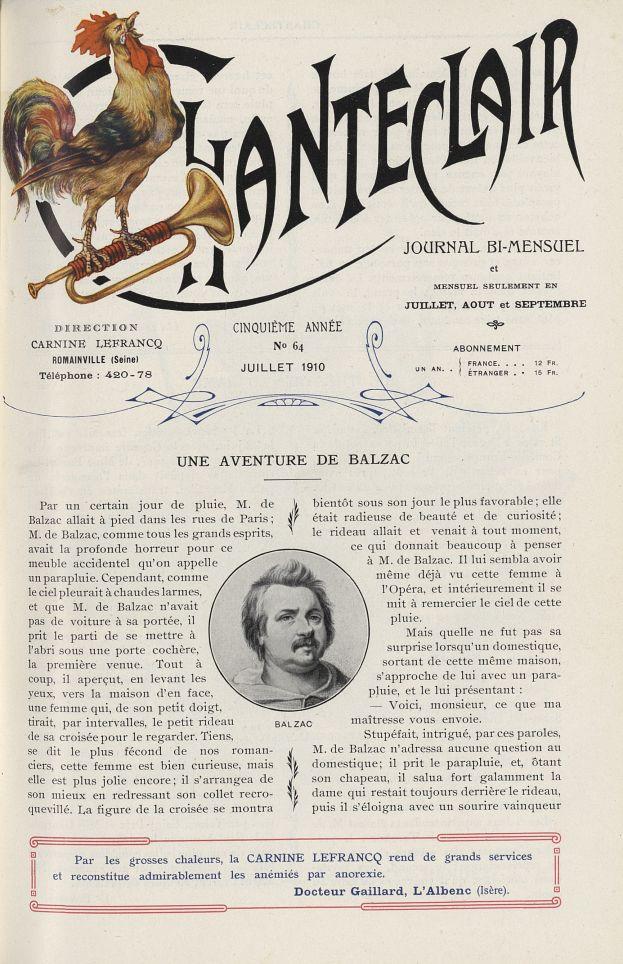 Balzac - Chanteclair -  - medchanteclx1910x05x0097