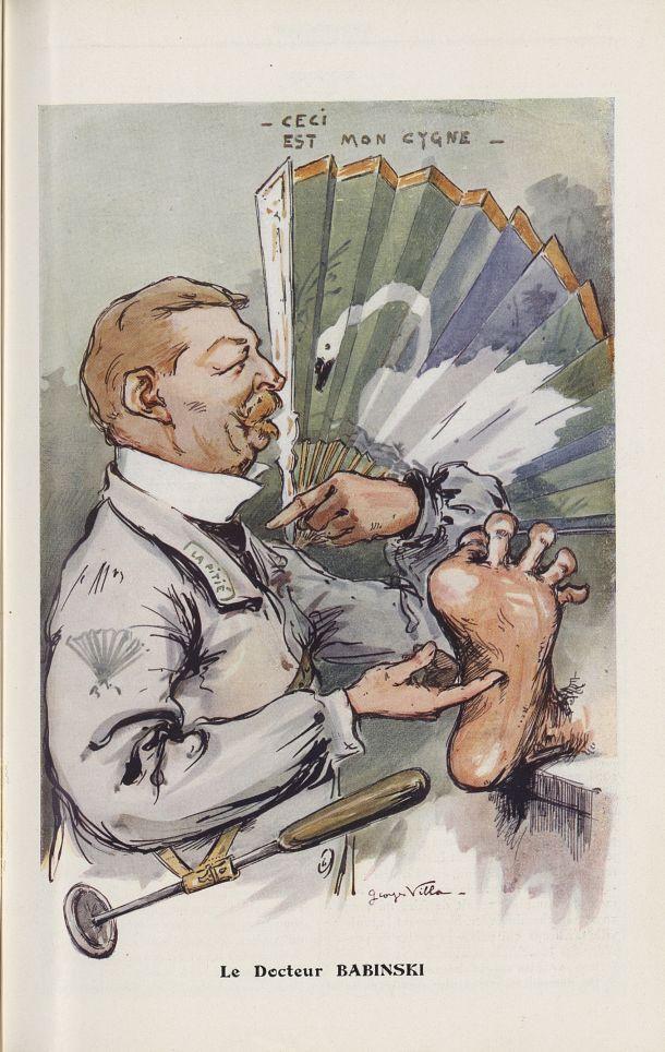 [Caricature] Le Docteur Babinski (Georges Villa) - Chanteclair -  - medchanteclx1911x06x0131