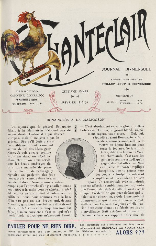 Le Général Bonaparte - Chanteclair -  - medchanteclx1912x07x0017