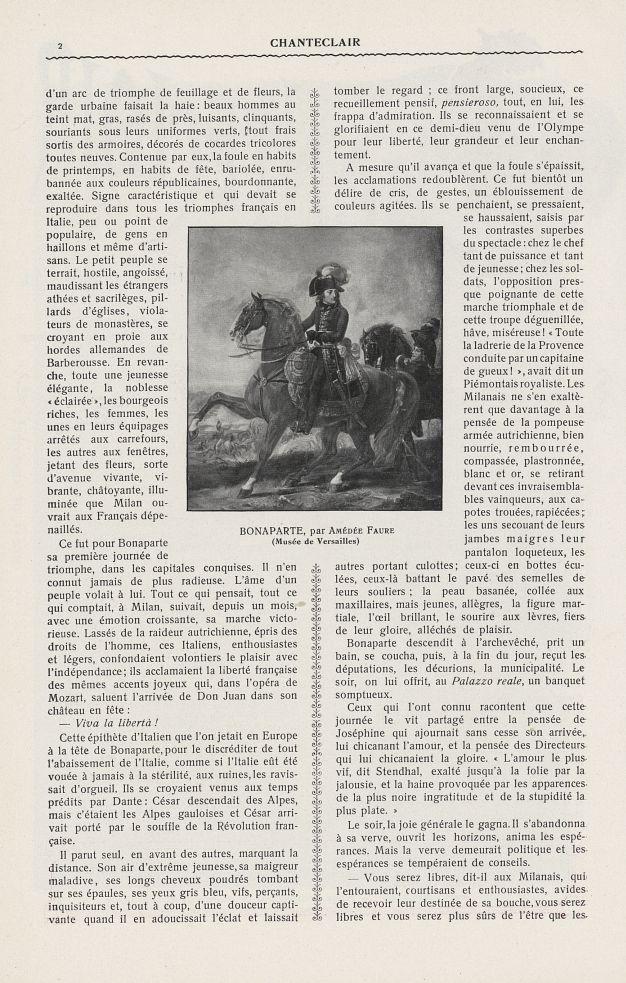Bonaparte (Amédée Faure) - Chanteclair -  - medchanteclx1913x08x0026