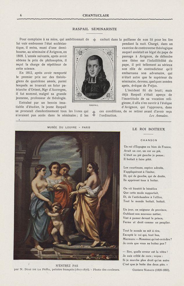 Raspail / N'entrez pas (N. Diaz de la Peña, 1807-1876) - Chanteclair -  - medchanteclx1914x09x0090