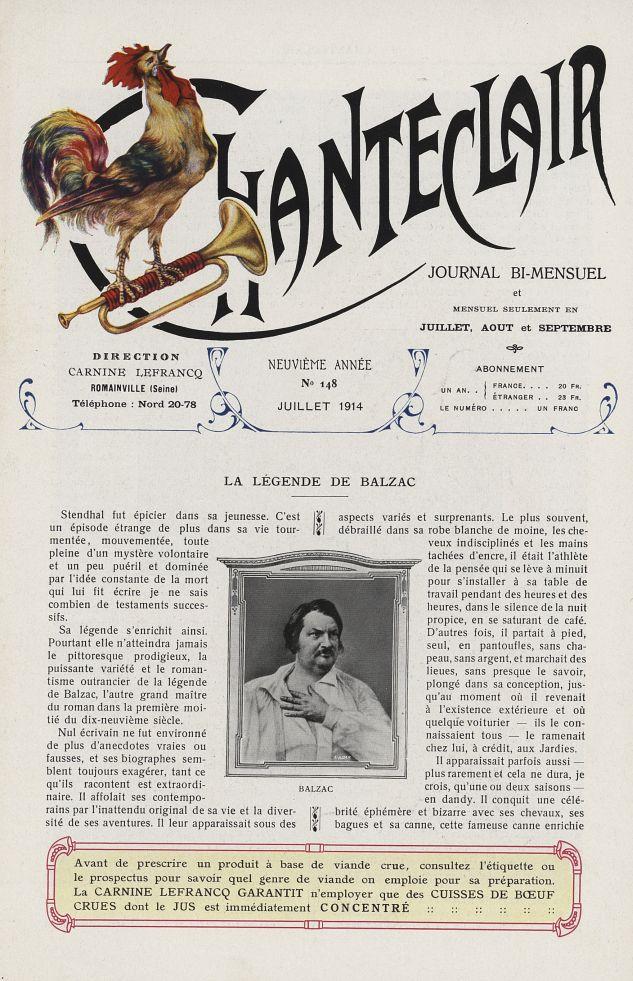 Balzac - Chanteclair -  - medchanteclx1914x09x0101