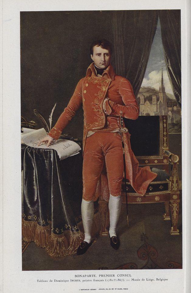 Bonaparte, premier Consul (Dominique Ingres, 1780-1867) - Chanteclair -  - medchanteclx1922x12x0016
