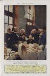 Le Docteur Péan enseignant à l'Hôpital Saint-Louis. La découverte du pincement des vaisseaux (H. Ger [...]
