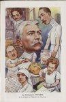 [Caricature] Le Professeur Sencert de la Faculté de médecine de Strasbourg (H. Frantz) - Chanteclair