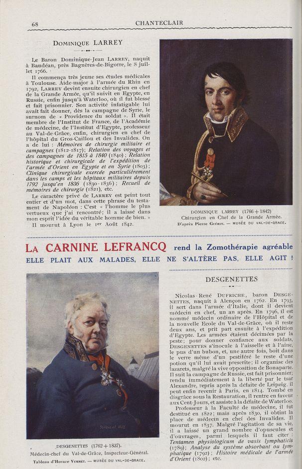 Dominique Larrey (1766-1842). Chirurgien en chef de la grande armée (Pierre Guérin) / Desgenettes (1 [...] -  - medchanteclx1925x15x0068