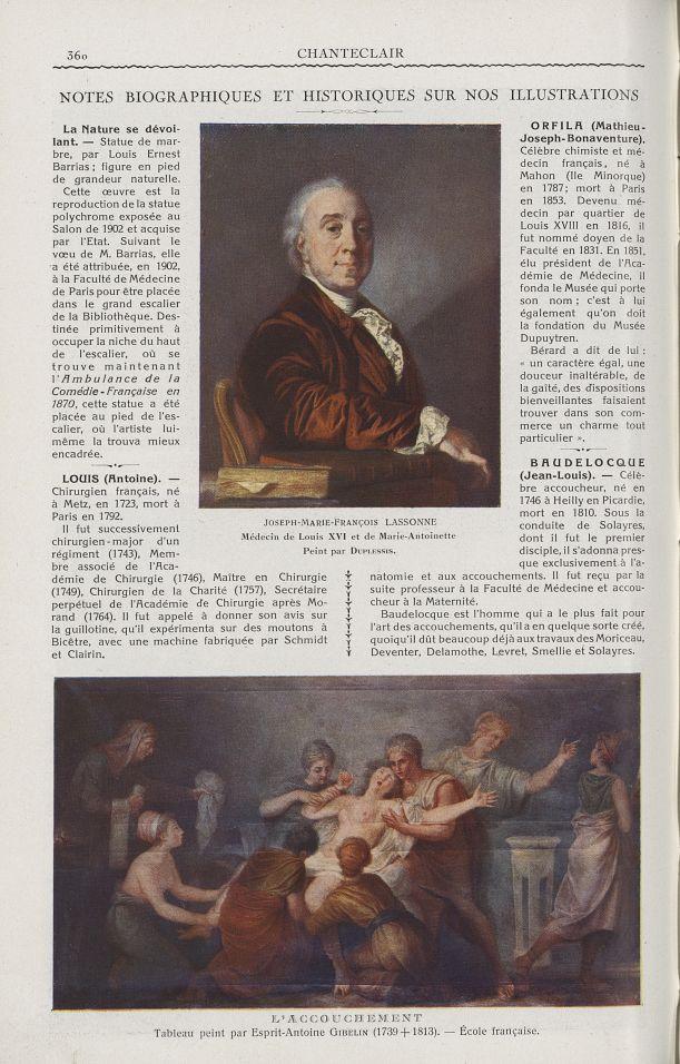 Joseph-Marie-François Lassonne. Médecin de Louis XVI et de Marie-Antoinette (Duplessis) / L'accouche [...] -  - medchanteclx1927x17x0088