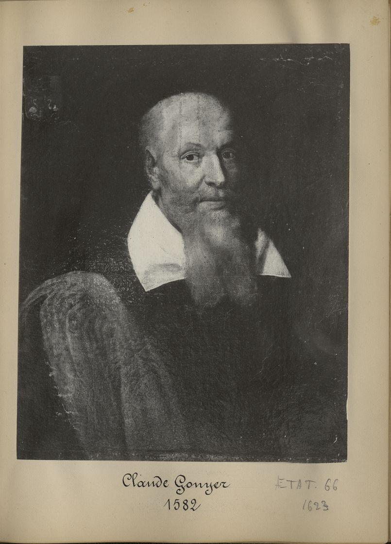 [Portrait de la salle des Actes] Claude Gonyer 1582 - Album de platinotypies. Tableaux de la salle d [...] -  - medextcnop0003x0005
