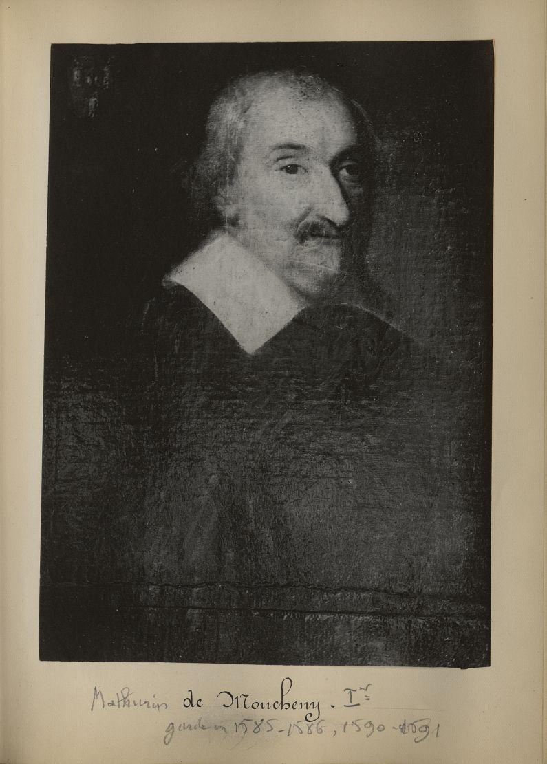 [Portrait de la salle des Actes] Mathurin de Moucheny - Album de platinotypies. Tableaux de la salle [...] -  - medextcnop0003x0012