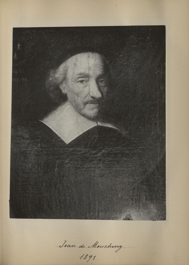 [Portrait de la salle des Actes] Jean de Mouchery 1591 - Album de platinotypies. Tableaux de la sall [...] -  - medextcnop0003x0013