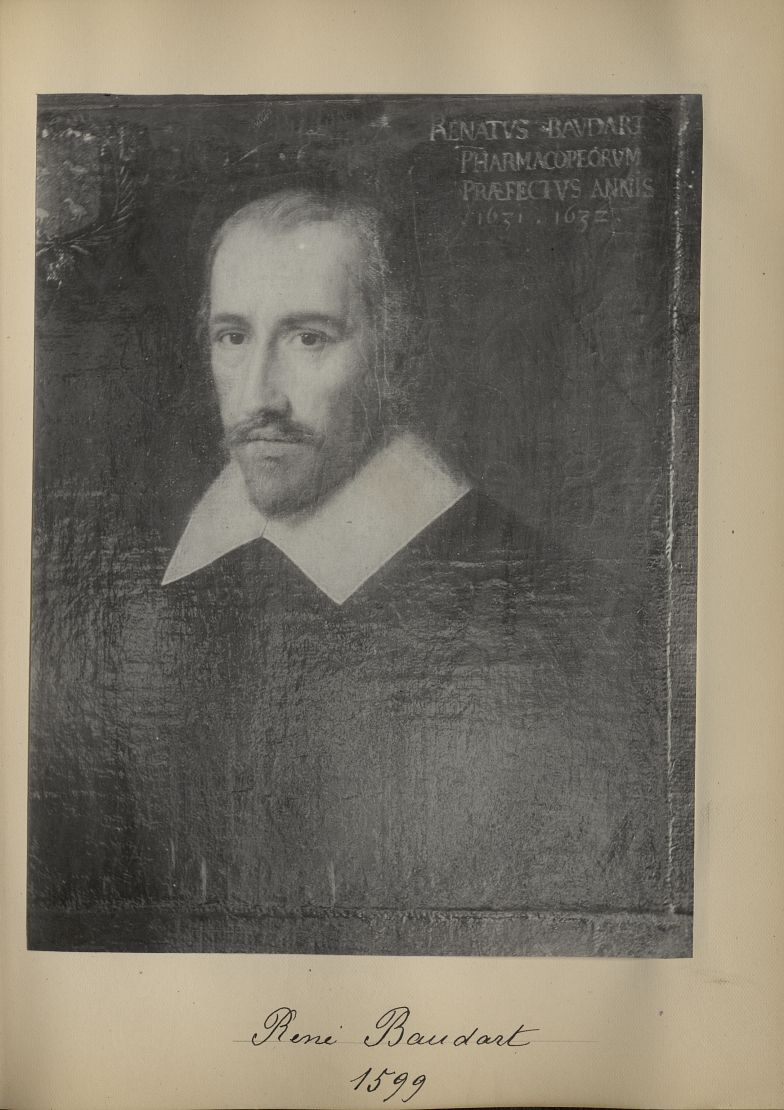 [Portrait de la salle des Actes] René Baudart 1599 - Album de platinotypies. Tableaux de la salle de [...] -  - medextcnop0003x0015