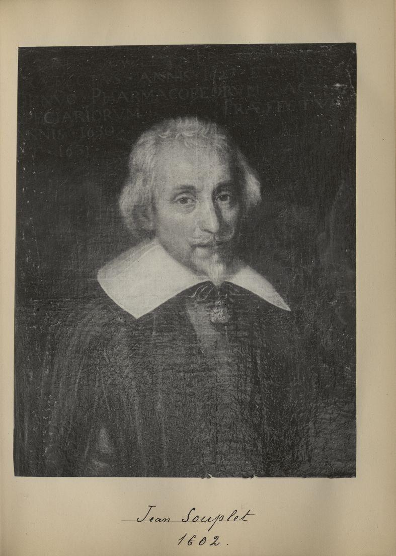 [Portrait de la salle des Actes] Jean Souplet 1602 - Album de platinotypies. Tableaux de la salle de [...] -  - medextcnop0003x0016