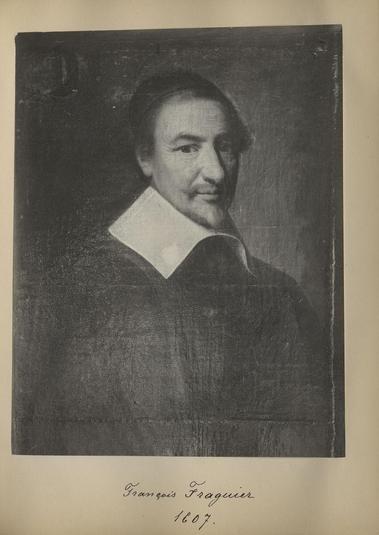 [Portrait de la salle des Actes] François Fraguier 1607 - Album de platinotypies. Tableaux de la sal [...] -  - medextcnop0003x0017