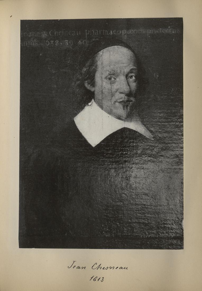 [Portrait de la salle des Actes] Jean Chesneau 1613 - Album de platinotypies. Tableaux de la salle d [...] -  - medextcnop0003x0018