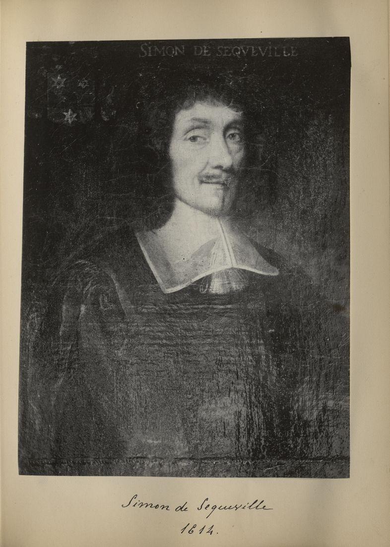 [Portrait de la salle des Actes] Simon de Sequeville 1614 - Album de platinotypies. Tableaux de la s [...] -  - medextcnop0003x0019
