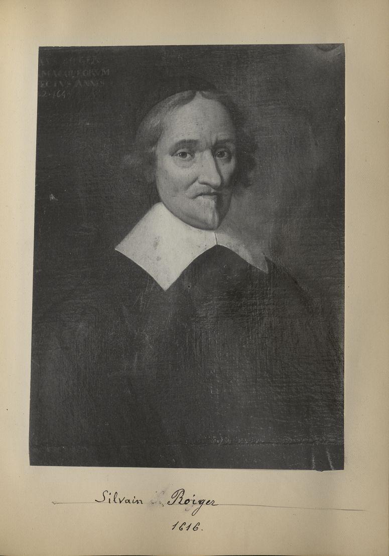 [Portrait de la salle des Actes] Silvain Roiger 1616 - Album de platinotypies. Tableaux de la salle  [...] -  - medextcnop0003x0020