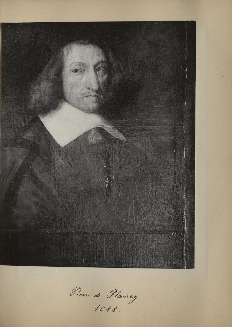 [Portrait de la salle des Actes] Pierre de Plancy 1618 - Album de platinotypies. Tableaux de la sall [...] -  - medextcnop0003x0021