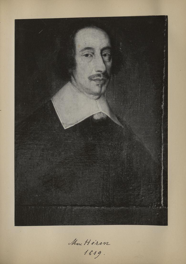 [Portrait de la salle des Actes] Marc Héron 1619 - Album de platinotypies. Tableaux de la salle des  [...] -  - medextcnop0003x0022