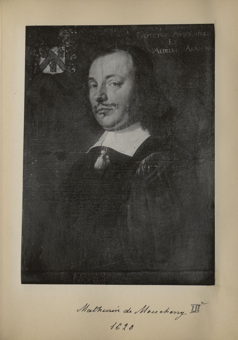 [Portrait de la salle des Actes] Mathurin de Moucheny 1620 - Album de platinotypies. Tableaux de la  [...] -  - medextcnop0003x0023