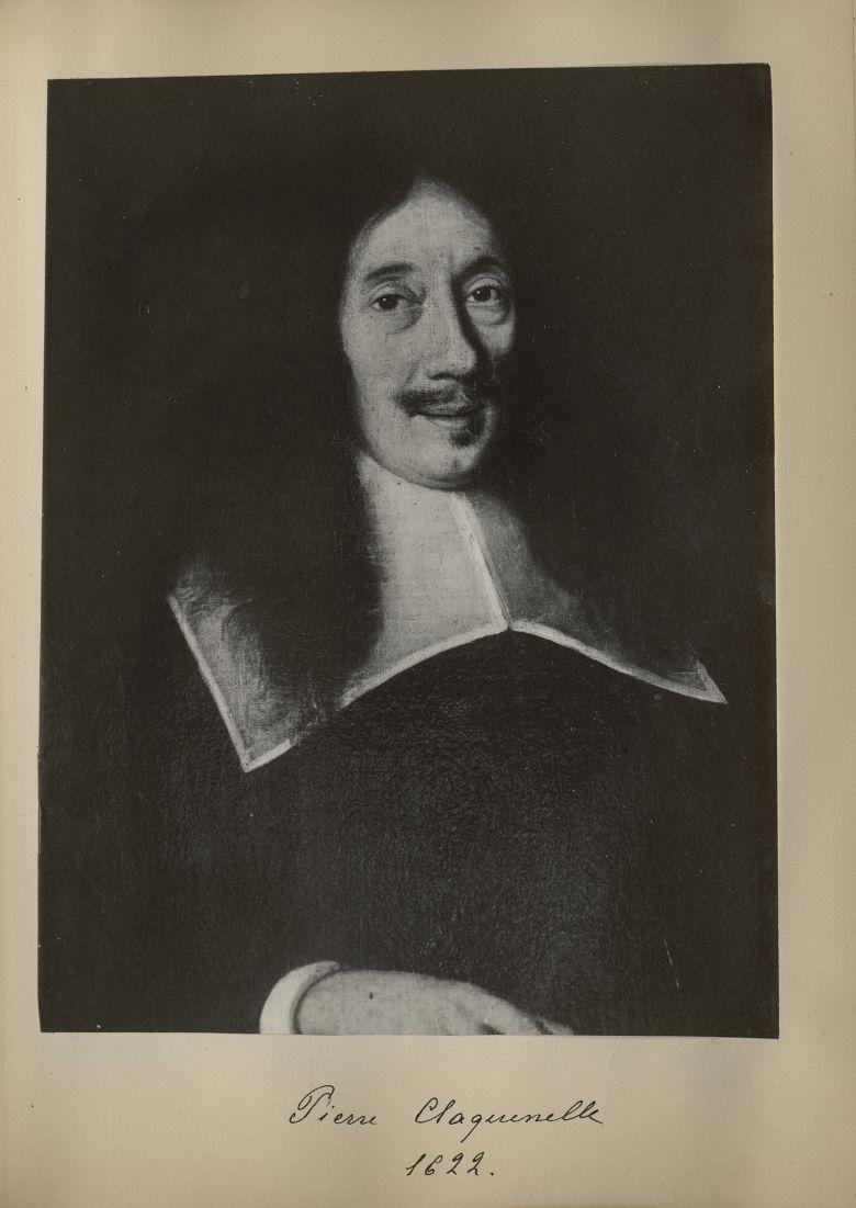 [Portrait de la salle des Actes] Pierre Claquenelle 1622 - Album de platinotypies. Tableaux de la sa [...] -  - medextcnop0003x0024